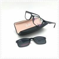 harga Polarized Frame Kacamata Rayban 6203 Clip On Magnet Black Glossy Tokopedia.com