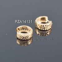 Anting emas jepit zigzag PZA14131