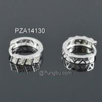 Anting putih simple mata zirconia PZA14130