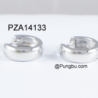 Anting jepit putih (mirror) simple PZA14133