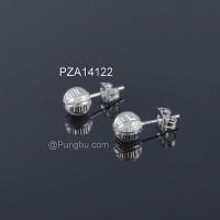 Anting putih tusuk bola PZA14122
