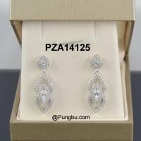 Anting putih juntai elegan PZA14125
