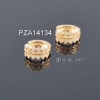 Anting emas jepit model mahkota / daun PZA14134