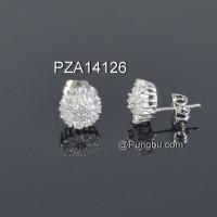Anting putih motif bunga PZA14126