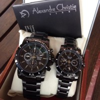 harga Jam Tangan Couple Alexandre Christie 6141 Mc/bfbipba Full Black Ori Tokopedia.com