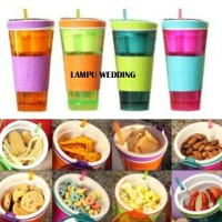 Harga tumbler snackeez 2 in 1 tempat makanan snack dan minuman bekal | WIKIPRICE INDONESIA