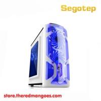 Segotep Polar Light Gaming Case White [1x Blue Led Fan] - Micro ATX