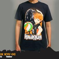 Kaos Anime Haikyuu Navy T-Shirt (KK KYU 01)