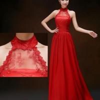 Gaun pesta import merah wedding dress prewedding sewa salon nikah