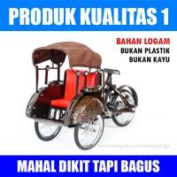 harga Miniatur Becak Jawa - Kualitas 1 Tokopedia.com