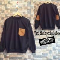 Jaket Pria Murah / Sweater Pria Murah Vans Black Pocket Elbow