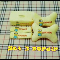 Set Car/bantal Mobil Minion/minnion/kuning/merah 3 In 1