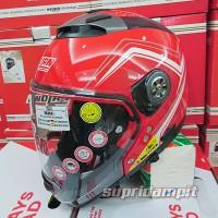 Helm Nolan N44 Evo Como Corsa Red Multy Model Not Schuberth Bell Zeus