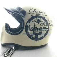Jual Helm Cakil HBC Cream doff Vespa Classic Murah