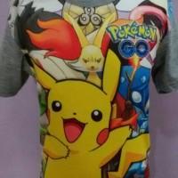 Grosir Full Print Furo Thailand Kaos Anak Pokemon