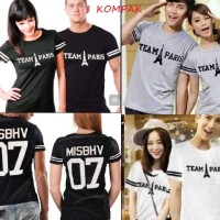 harga Kaos Couple Team Paris Tokopedia.com