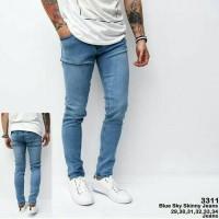 Celana Jeans Skinny Biru Skinny Jeans Pria Blue Sky