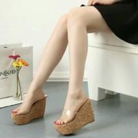 harga high heels wedges mika 971 tan, sepatu wanita Tokopedia.com