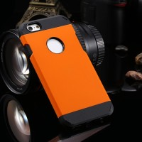 New Armor Case Plastic/Case Armor/Hard Case iPhone 5S Orange + TPU