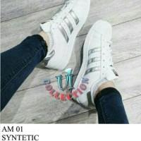 Sepatu Kets Wanita Putih Replika Adidas Silver List