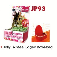 Tempat Makan / Jolly Fixed Steel Edged Bowl ( Red ) Jp93
