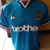 Jersey Bola Manchester City Home 97/99 Retro A3 (brother)