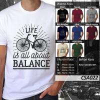 harga Kaos Balance, Bahan Katun Combed 24's, Size M dan L Tokopedia.com
