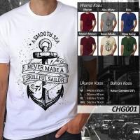 harga Kaos jangkar, Bahan Katun Combed 24's, Size M dan L Tokopedia.com