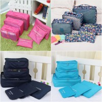 Jual Tas Travel Traveling Korean Bag in Bag 6 in 1 Organizer Murah