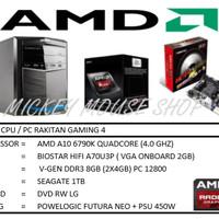PAKET CPU RAKITAN GAMING 4 /AMD A10-6790K (3.9 GHZ)/ RAM 8GB /HDD 1TB