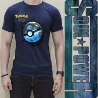Kaos 3d Pokemon Go Navy Squirtle Pokeball Original Soulpowerstyle