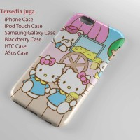 hello kitty and mimi Hard case iphone case dan semua hp
