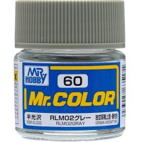 Mr Color 60 Rlm02 Gray (semi-gloss/ German Aircraft Wwii)