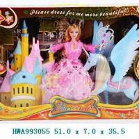 Mainan Barbie + Unicorn / Pegasus