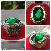 Jual CINCIN TITANIUM GREEN PERIDOT FULL CUTTING HQ Murah