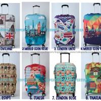 harga [World Destination] Cover Pelindung Koper uk L 26 inch XL 28 Inch Tokopedia.com