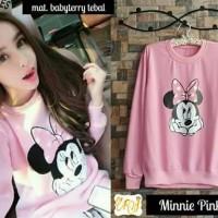 jaket Wanita Minnie Pink Sweater