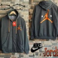 Jaket Cowok Jordan Nike Fleece Jaket Sweater