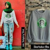 Sweater Wanita Starbuks Abu Sweater