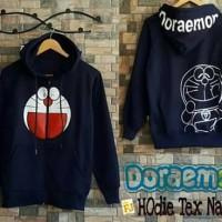 Jaket Wanita Doraemon Hodie Tex Navy Jaket Sweater
