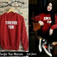 Sweater Wanita Forefer Fun Maroon Sweater