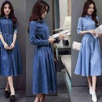 Rihans Dress/Dress Wanita/Baju atasan wanita/blouse panjang