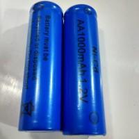 Batere isi ulang AA Baterai Biru 1000 mAh