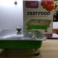 Harga fast food saito warna hijau tutup full kaca tempat makanan | antitipu.com