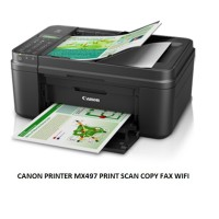 CANON PRINTER MX497 PRINT SCAN COPY FAX WIFI