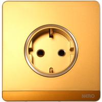 NERO Stop Kontak DECORA Q7 Q716VG-G Gold