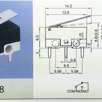 Small Lever Micro Limit Switch 2S SPDT