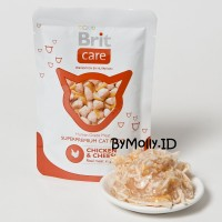 Makanan / Wet Food Kucing - Brit Care Chicken & Cheese 80gr