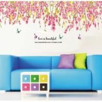 harga Pink Flowers Top Border JM7179 - Stiker Dinding / Wall Sticker (60x90) Tokopedia.com