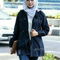Jaket wanita Busana wanita Baju muslim Jaket terbaru Jaket parka Navy